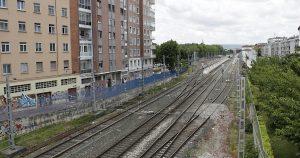Adif renueva las traviesas y los carriles de la línea Miranda-Vitoria