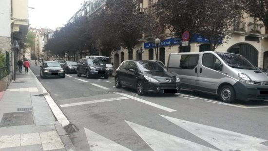 aparcamiento carril bici beato tomas de zumarraga