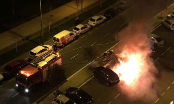 fuego coche zabalgana