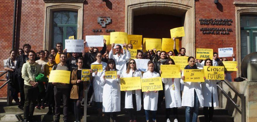Protesta este miércoles de los doctorandos de la UPV