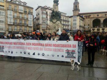 concentracion por los derechos de los animales