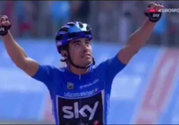 Landa vence en la etapa del Giro y se lleva la Maglia Azul