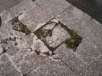 baldosa rota calle sierra de aralar