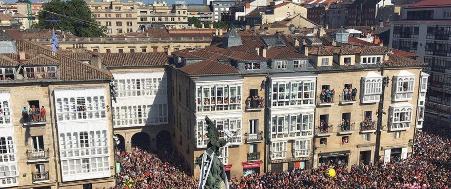 Celedón llega a Vitoria-Gasteiz y estalla La Blanca 2017