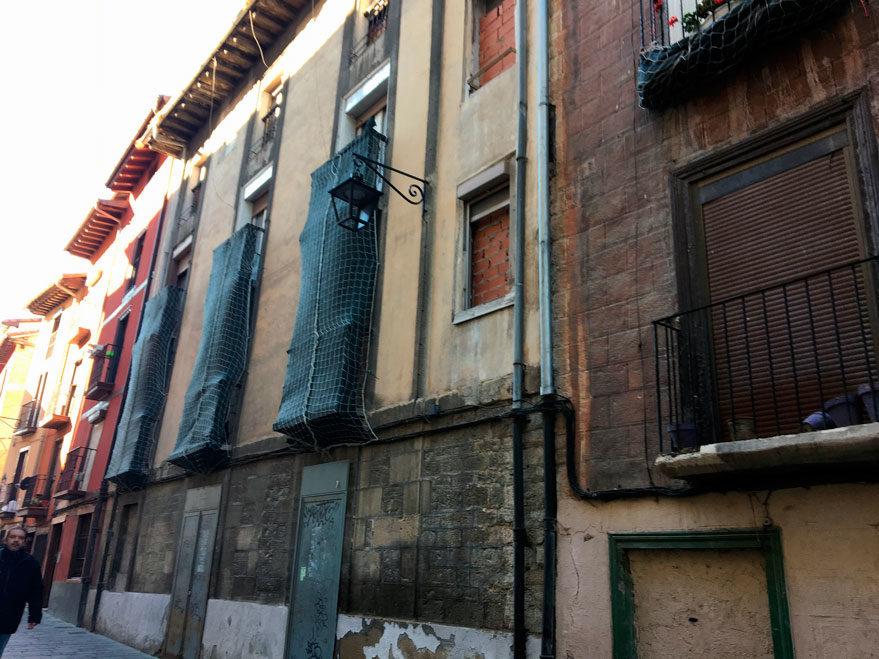 Imagen del edificio ocupado en Correría