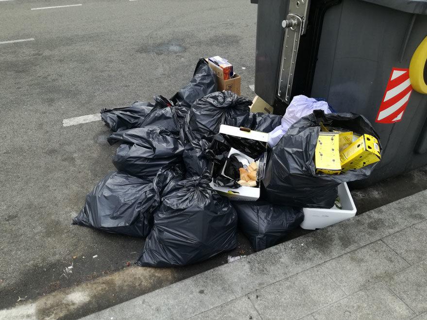 basura bolsa suciedad salburua