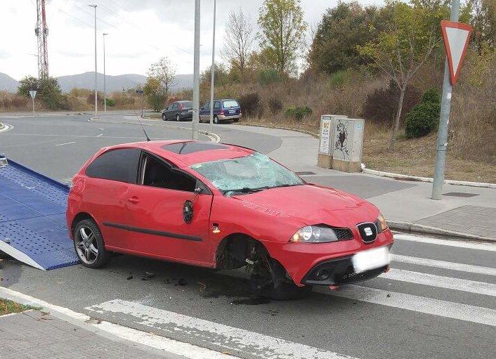 estado de los vehículos tras el accidente