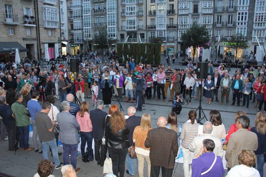 Concentración Galicia en Vitoria (Foto: Centro Gallego)