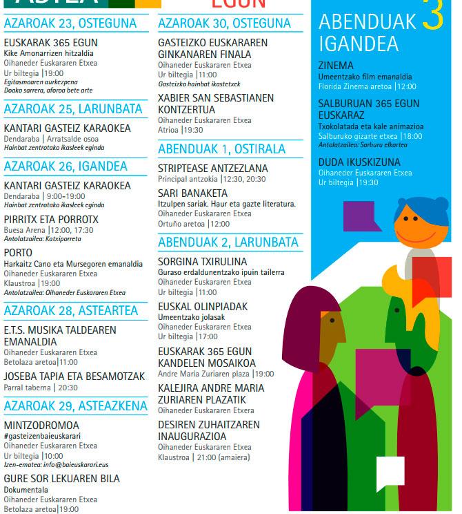 programa semana del euskera vitoria gasteiz