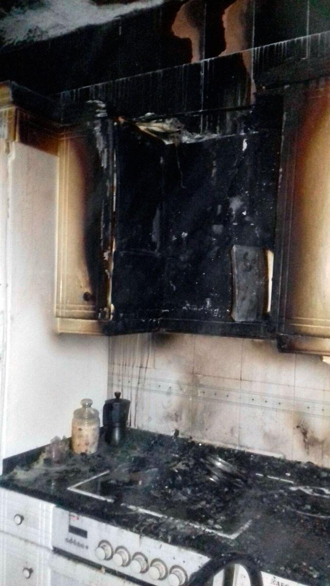 Arde una cocina en Pintor Vera Fajardo Gasteiz Hoy