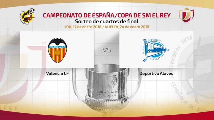 El Alavés se enfrentará al Valencia en los cuartos de la Copa del ...