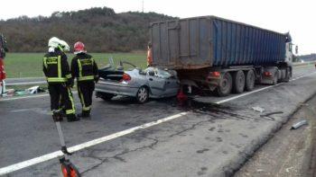Herida grave una mujer en un accidente en Legutiano