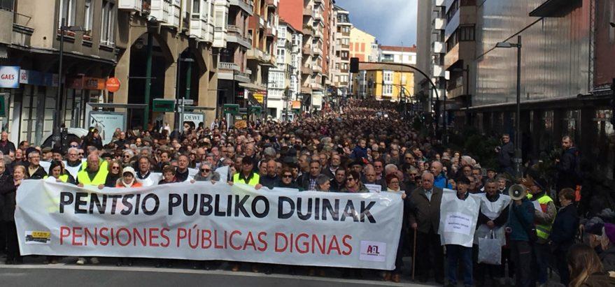 pensionistas vitoria manifestación