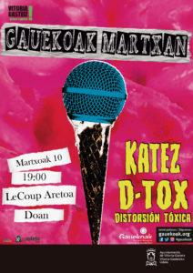 gauekoak martxan d-tox