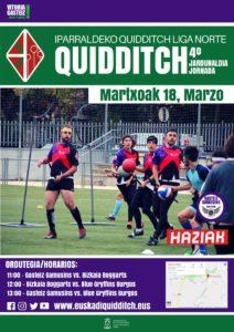 La liga de quidditch se juega este domingo en Vitoria-Gasteiz