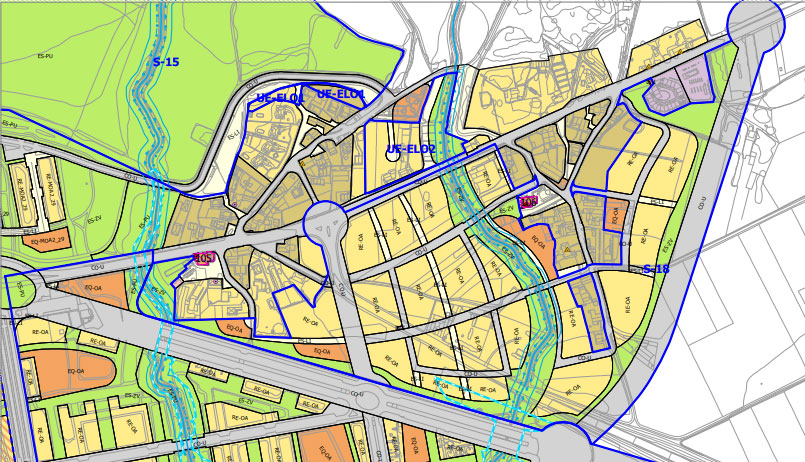 Previsión del actual PGOU en Arkaute-Elorriaga