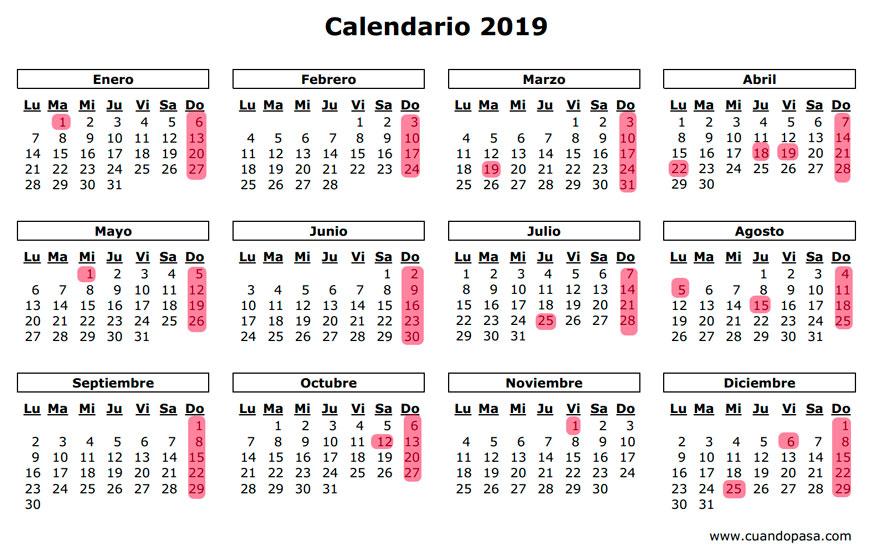 Calendario 2019 gasteiz hoy gasteiz hoy for Calendario lunar hoy