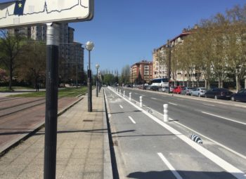 Las calles Chile y Honduras ya tienen su carril bici completo