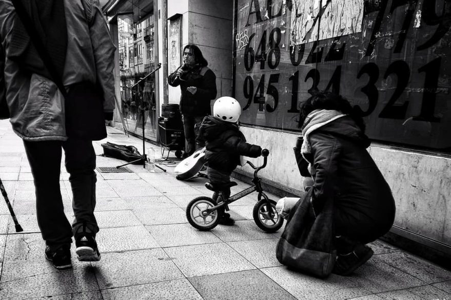 niños en bici Vitoria