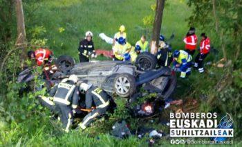 Nuevo accidente mortal en la carretera N240 de Legutiano