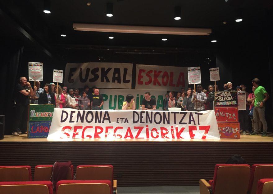 vitoria protesta segregacion escolar