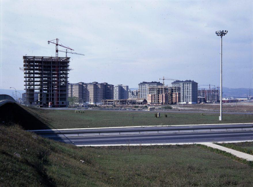 Vista de Sansomendi hacia 1978-79.Fundación Sancho el Sabio