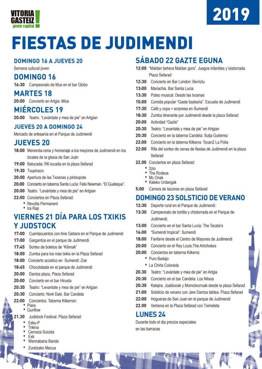 programa fiestas de judimendi 2019