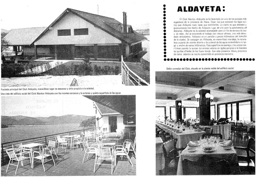 Información de dedicada al Club Aldayeta en la revista Resumen nº 18 de julio de 1970.