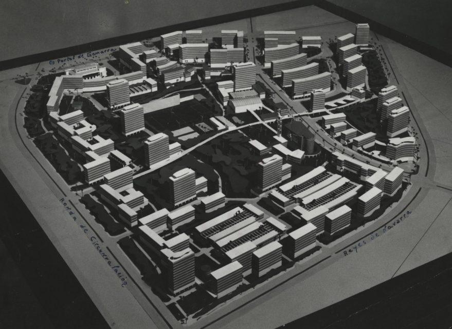 Maqueta del futuro barrio de Zaramaga en 1958. Fondo Fundaión Sancho el Sabio.