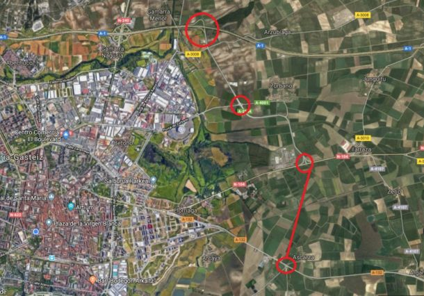EH Bildu propone una nueva carretera entre Salburua y la A1
