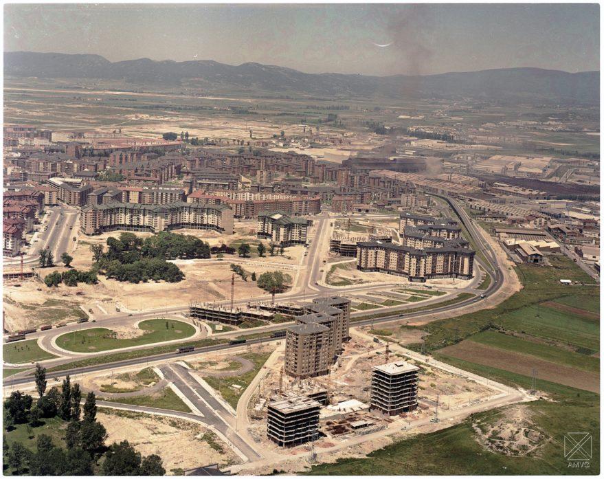 Vista aérea de Aranzabela y Aranbizkarra en 1978. Archivo Municipal de Vitoria-Gasteiz.