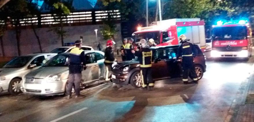 Accidente de trafico en Portal de Lasarte