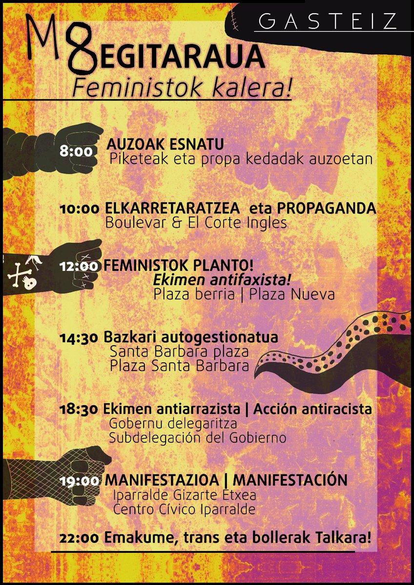 huelga feminista programa vitoria