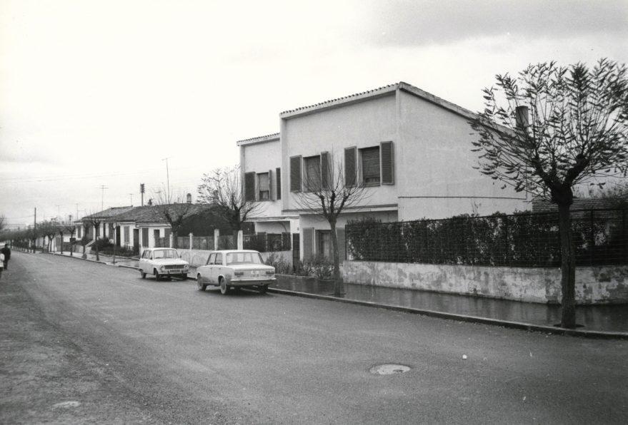 Aspecto de una calle del barrio en 1972. Fondo Fundación Sancho el Sabio.