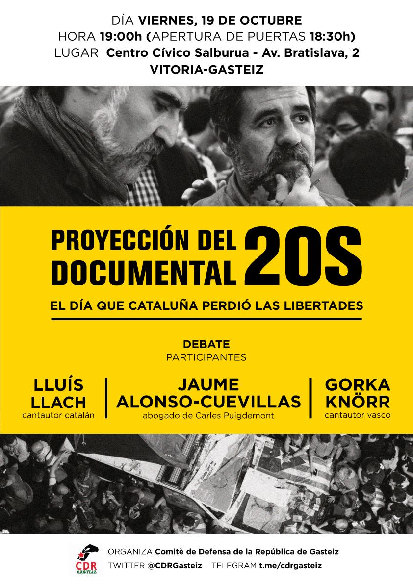 Proyección del documental 20S @ C.C Salburua