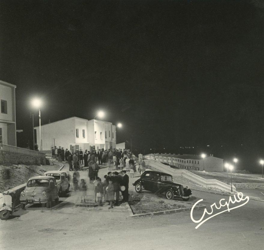 Inauguración del tendido eléctrico en 1959. Fondo Fundación Sancho el Sabio.