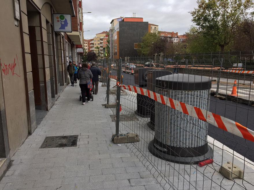 reforma calle san ignacio recogida neumatica