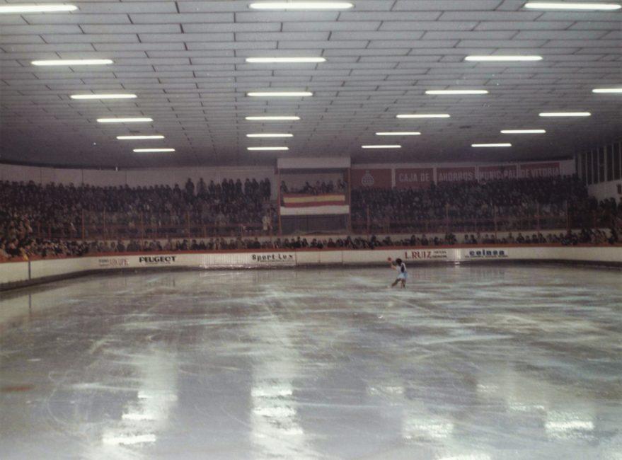 Aspecto de una competición organizada en 1975. Fondo Fundación Sancho el Sabio.
