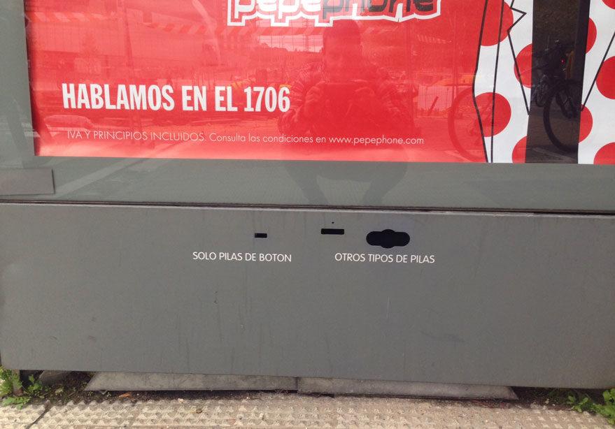 contenedores pilas