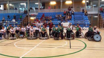 Zuzenak protagoniza el primer partido de rugby silla de Vitoria-Gasteiz