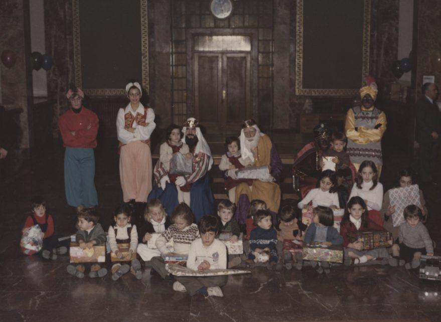 Recepción a los Reyes Magos a finales de la década de los setenta. Fondo FSS.