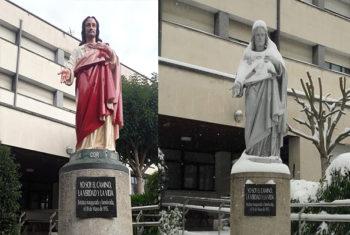 Corazonistas da color a su escultura del Sagrado Corazón de 1915