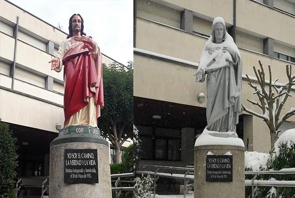 escultura sagrado corazon vitoria corazonistas