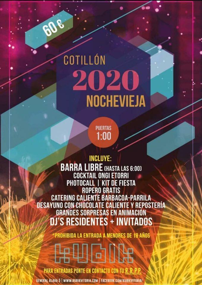 cotillon nochevieja kubik vitoria 2020