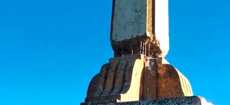 Destruyen parcialmente la base de la cruz de Olarizu | Gasteiz Hoy