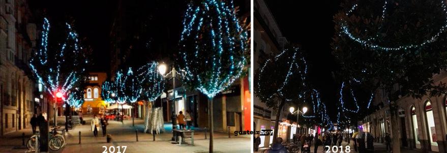 luces de navidad en la calle dato