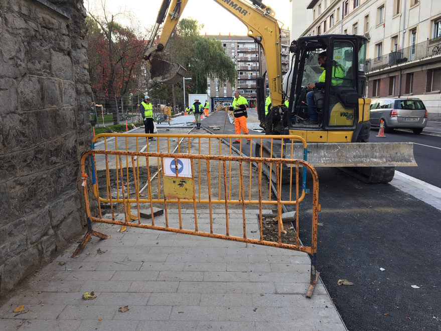 Reforma obras calle San Ignacio