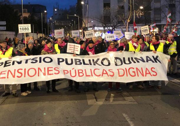 Vitoria-Gasteiz acoge una nueva manifestación de pensionistas
