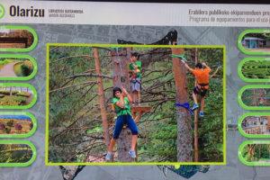 Las tirolinas para el pinar de Olarizu se instalarán en 2020