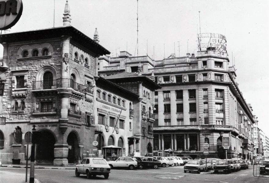 Plaza de Correos en 1979. peatonalización centro vitoria